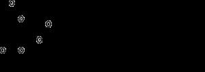 Stéarine : 3 molécules d'acide stéarique reliées grâce à une molécule de glycérol