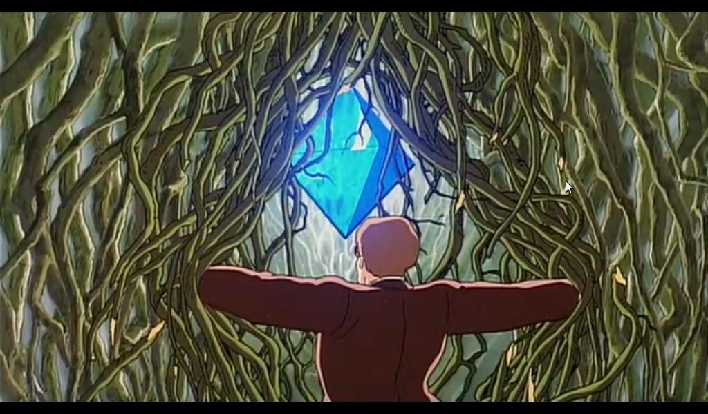 Un cristal géant de pierre volante... Dans le film de Miyazaki