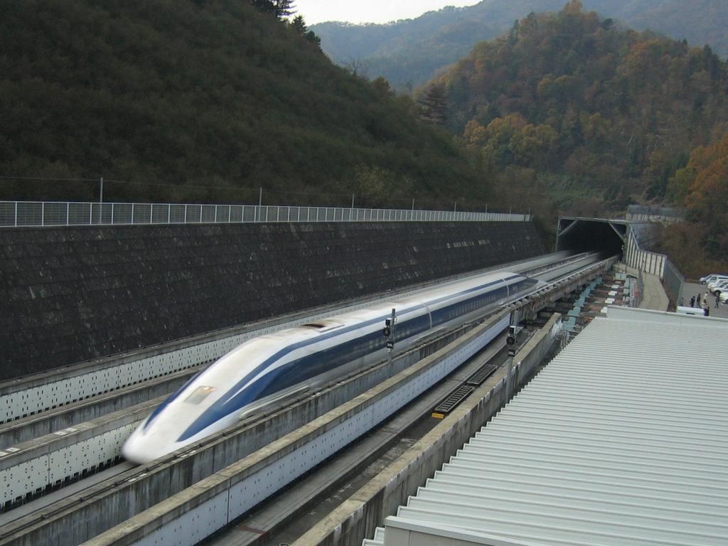 Le JR-MagLev, train à sustention magnétique. (Image : Wikipédia)